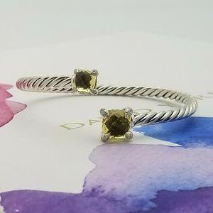 David Yurman 4mm chatelaine bypass onyx bracelet